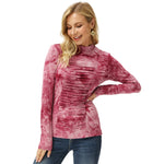Grace Karin Tie-Dyed Rayon High Neck Tops