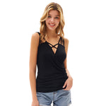Grace Karin Multi-Straps Ruched Cami Tops