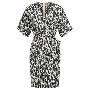 Load image into Gallery viewer, Grace Karin Leopard Kimono Sleeve Mini Dress