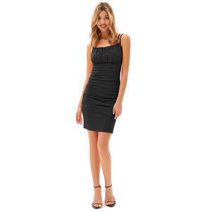 Load image into Gallery viewer, Grace Karin Ruched Dual Straps Slinky Bodycon
