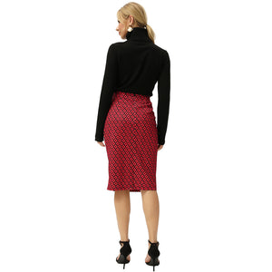 Load image into Gallery viewer, Grace Karin Diamond Check Hips-Wrapped Skirt