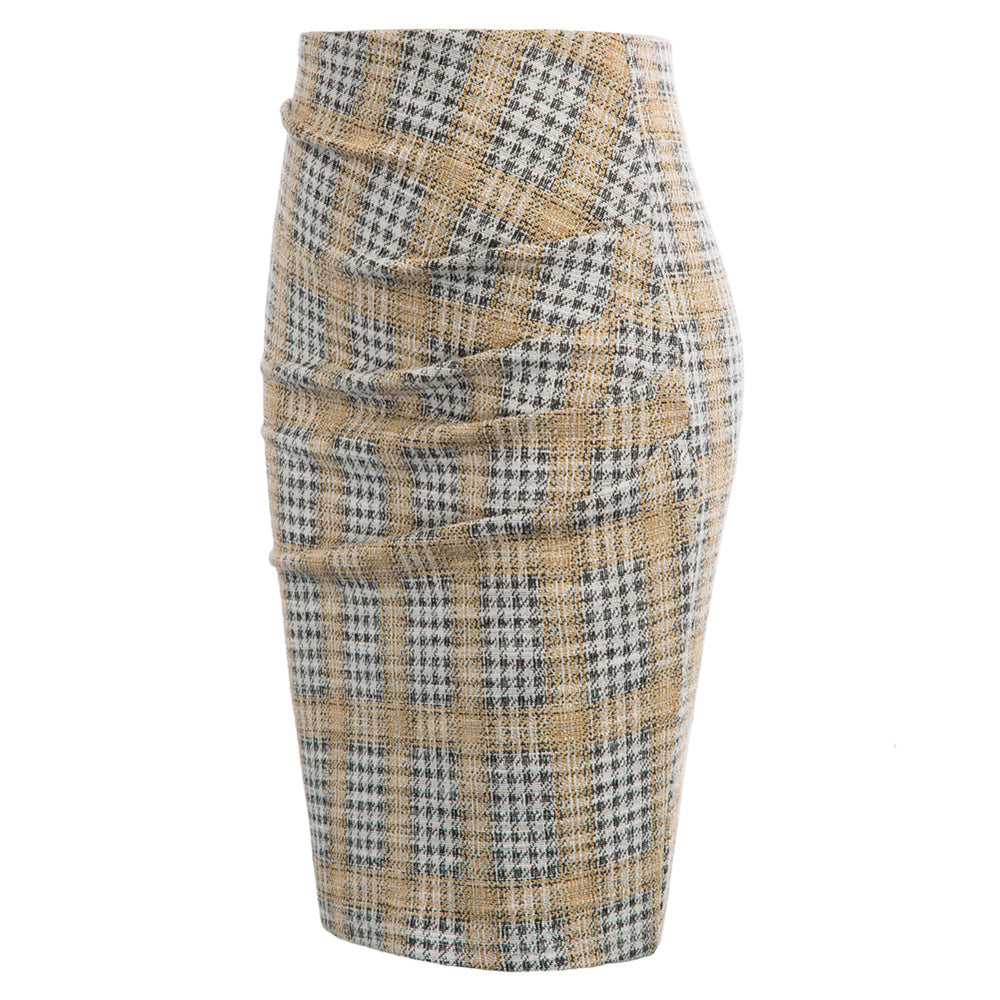 Grace Karin Ruched Stretchy High Waist Pencil Skirt