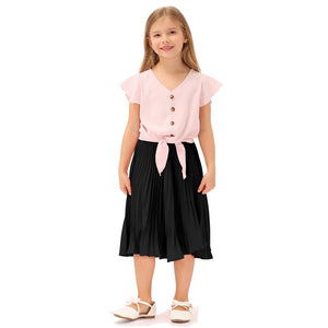 Grace Karin Girls Pleated Flared Skirt