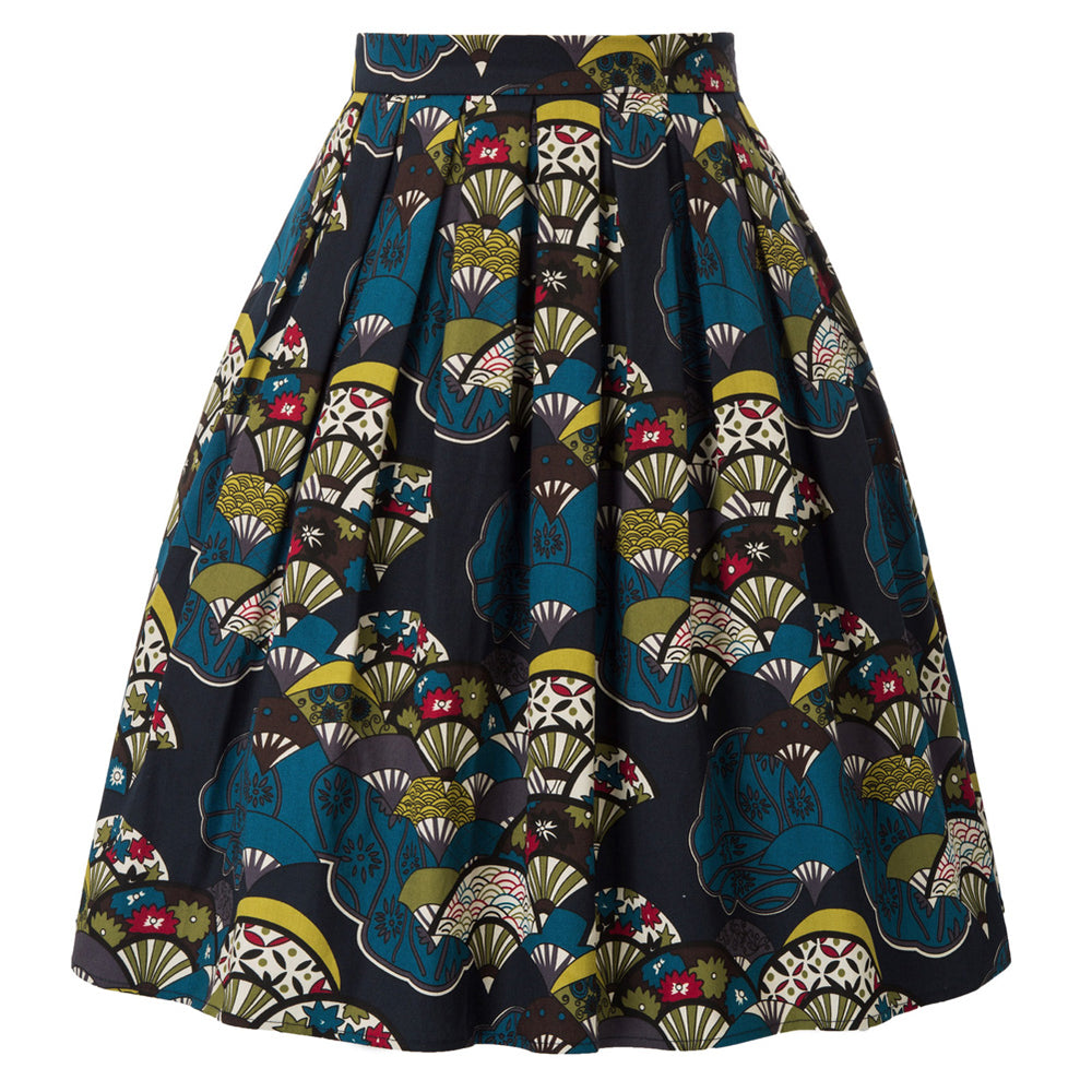 Load image into Gallery viewer, Grace Karin Cotton Retro Vintage Floral Pleated Skirt