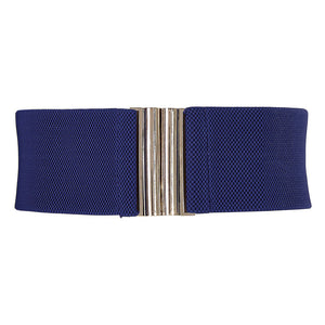 Grace Karin Wide Metal Hook Stretchy Belt
