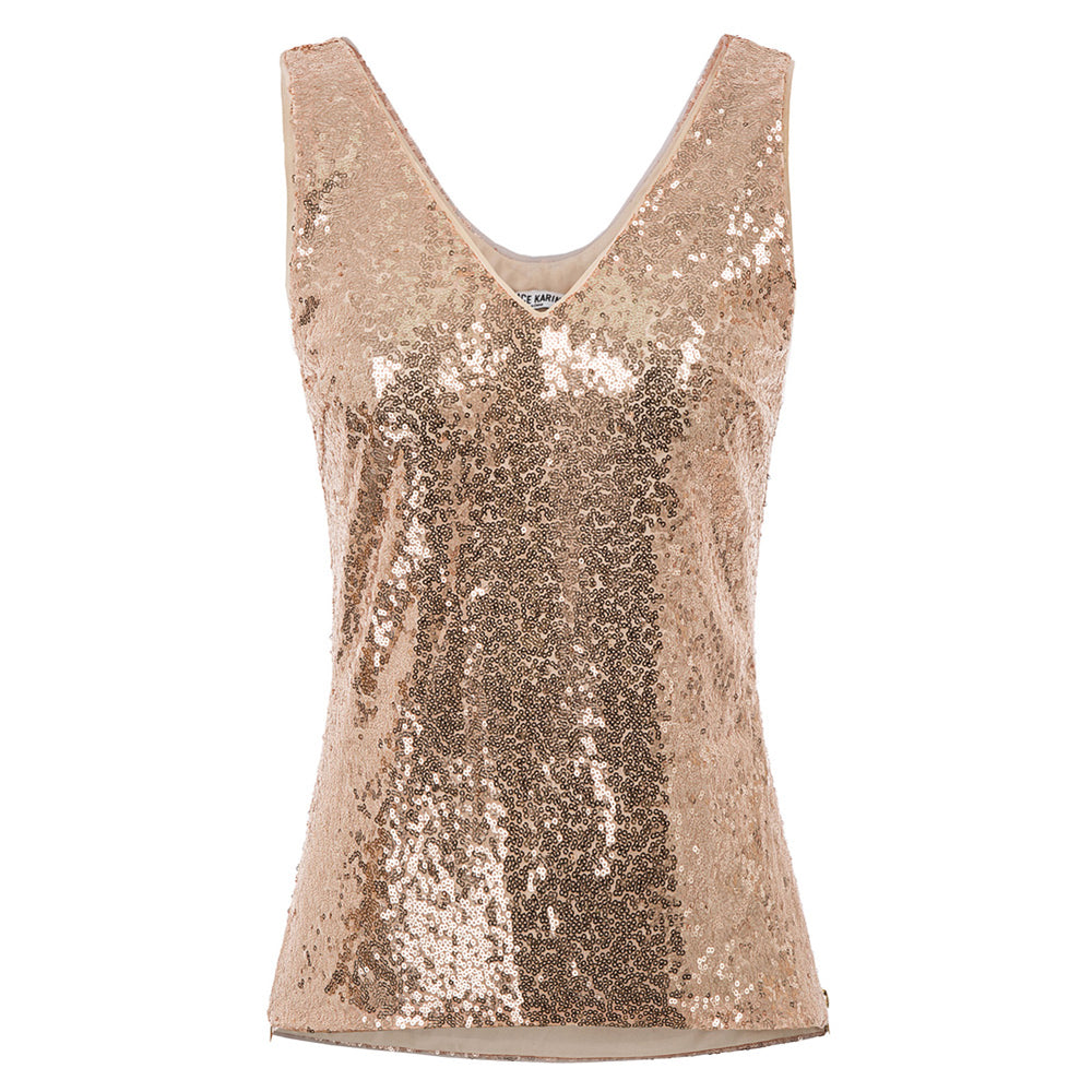 Grace Karin Sequined Tank Sleeveless Top