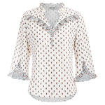 Grace Karin Ruffled 3/4 Sleeves Shirt