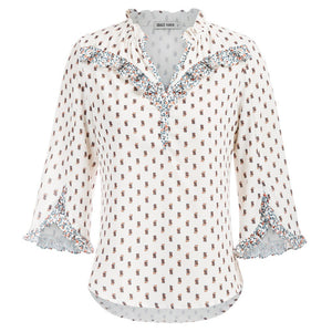 Load image into Gallery viewer, Grace Karin Ruffled 3/4 Sleeves Shirt