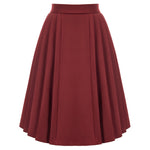 Grace Karin High Waist Pleated Flared Skirt