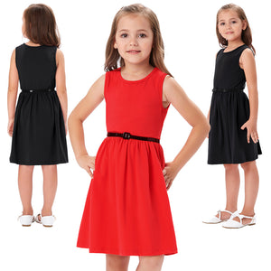 Load image into Gallery viewer, Grace Karin Cotton Girls Sleeveless Dress