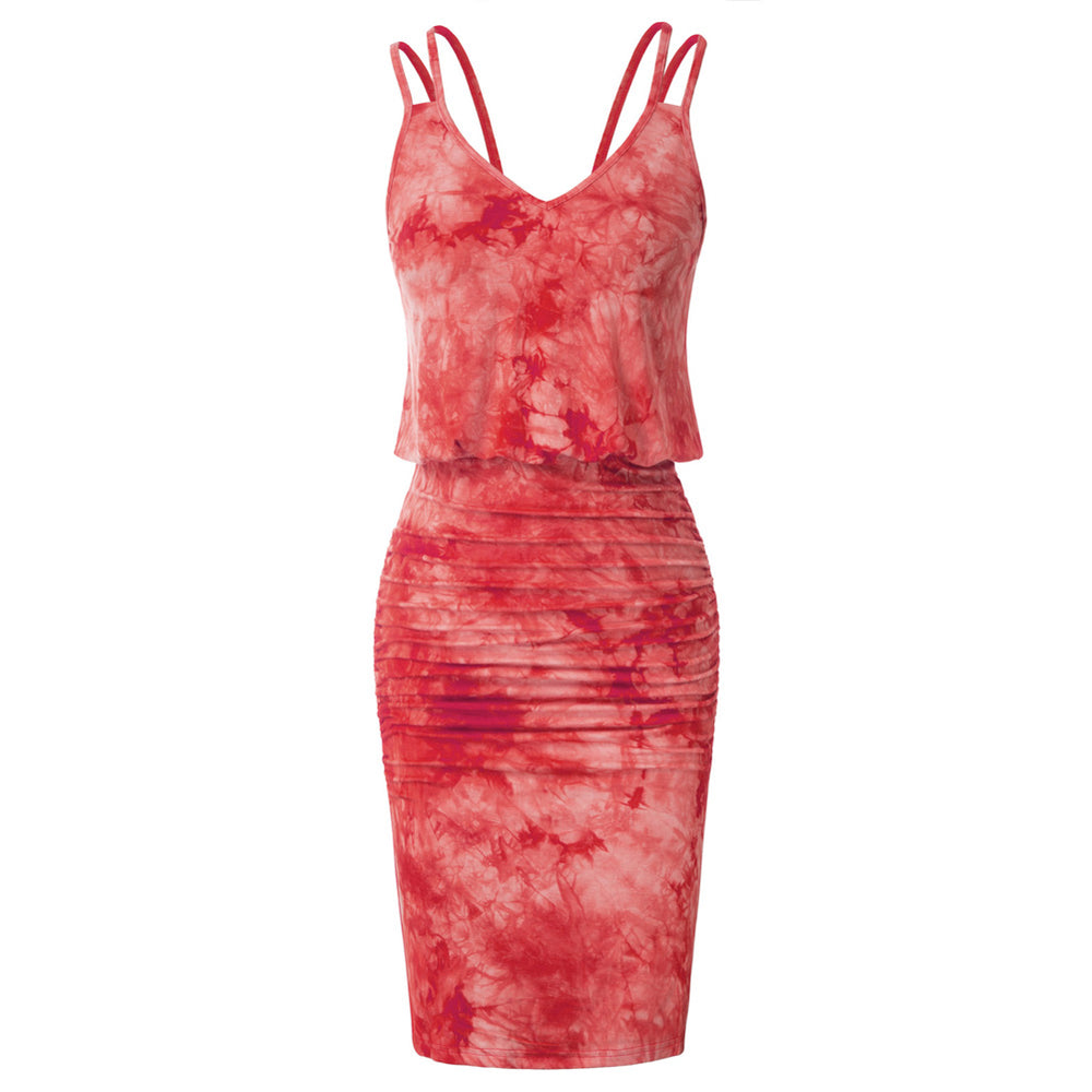 Load image into Gallery viewer, Grace Karin Tie-Dyed Spaghetti Straps Bodycon