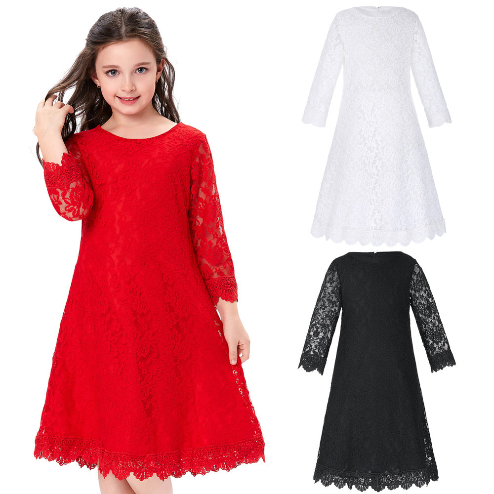 Grace Karin Lace Flower Girls Dress