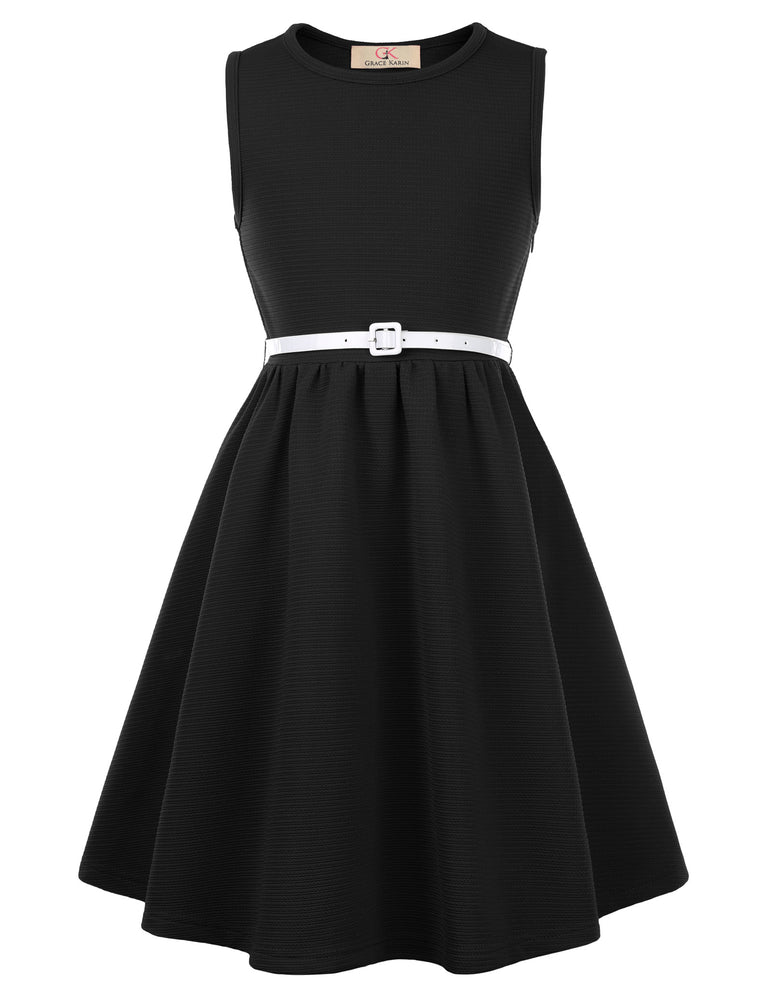 Load image into Gallery viewer, Grace Karin Skater Sleeveless Girls A-Line Dress