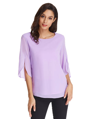 Load image into Gallery viewer, Grace Karin Split Sleeves Chiffon Tops