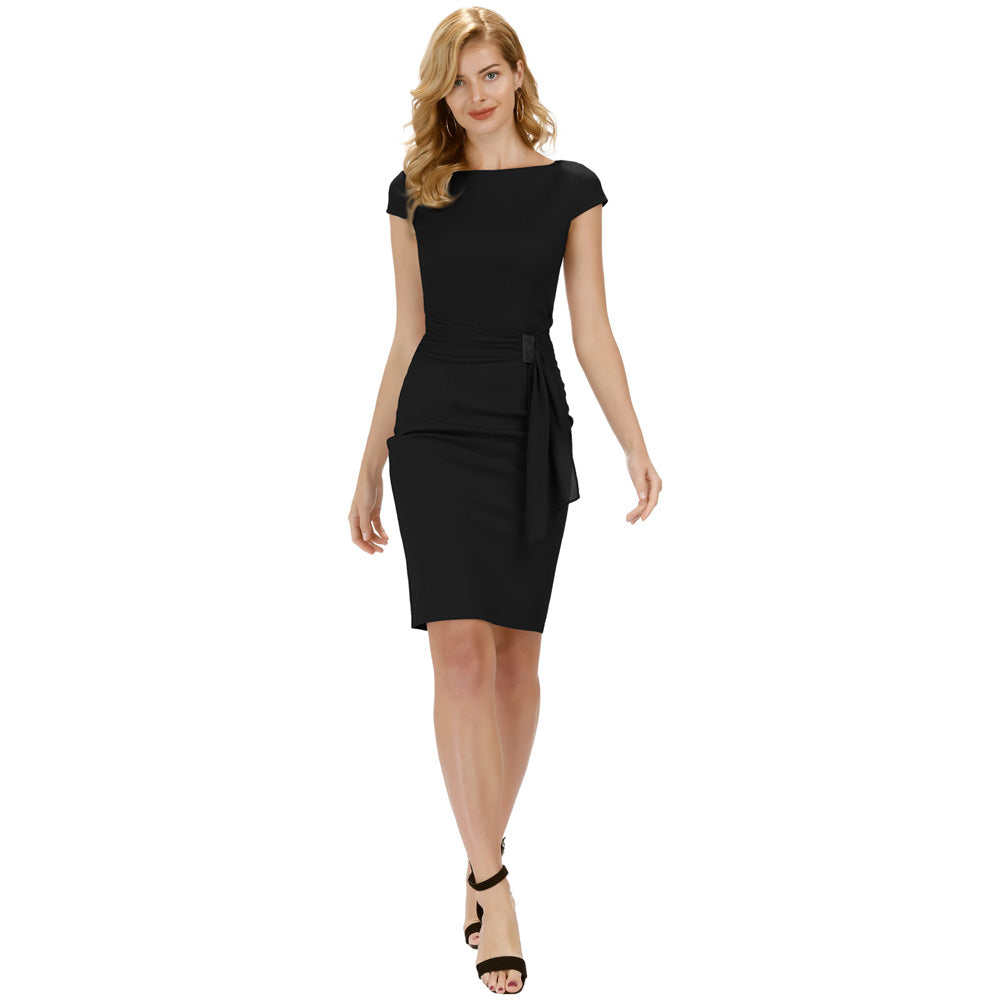 Grace Karin Cap Sleeve Scoop Neck Bodycon