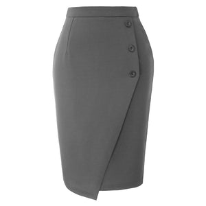 Grace Karin Buttons Decorated Pencil Skirt