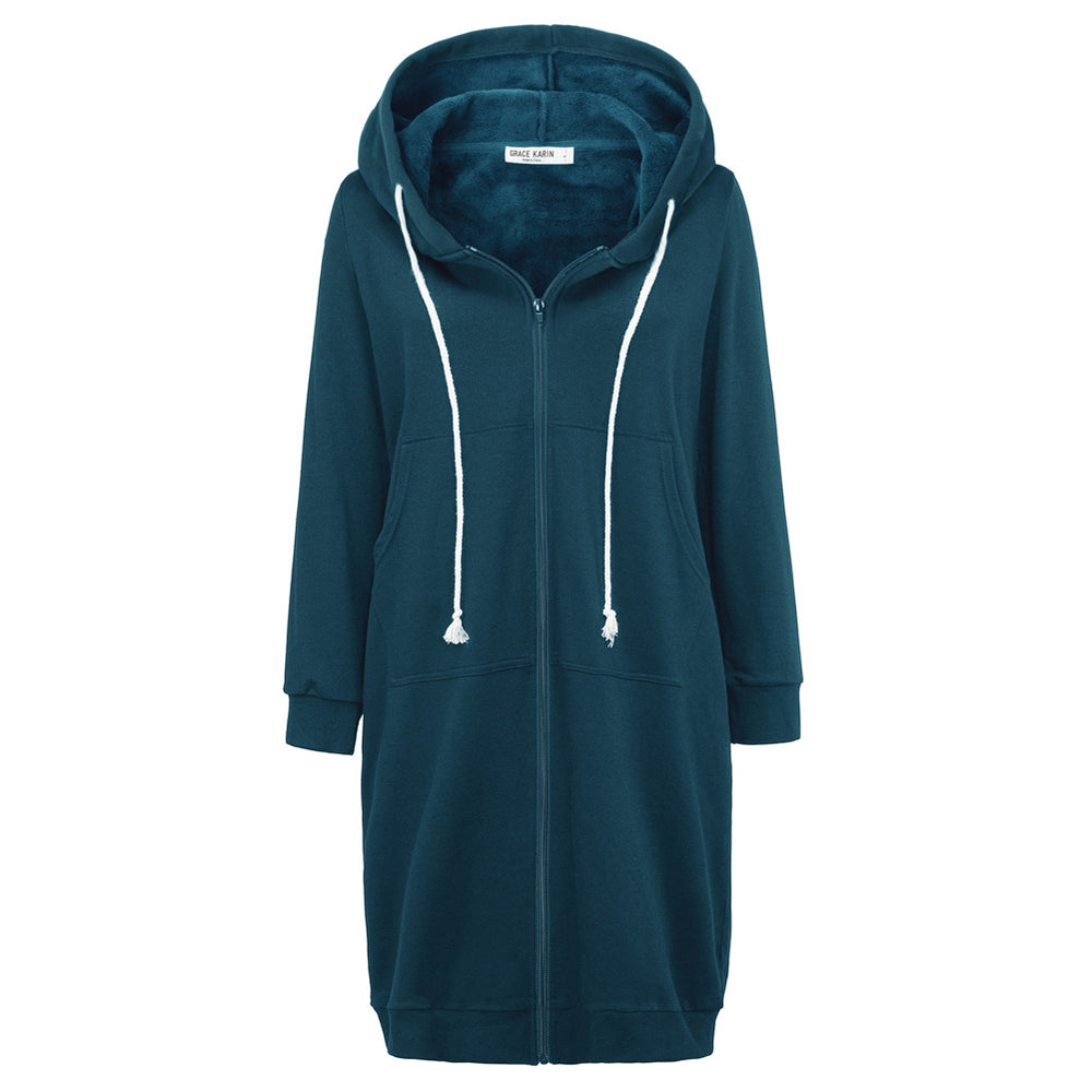 Load image into Gallery viewer, Grace Karin Fleece Lined Hooded Coat