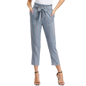 Grace Karin Waist Cropped Paper Bag Pants