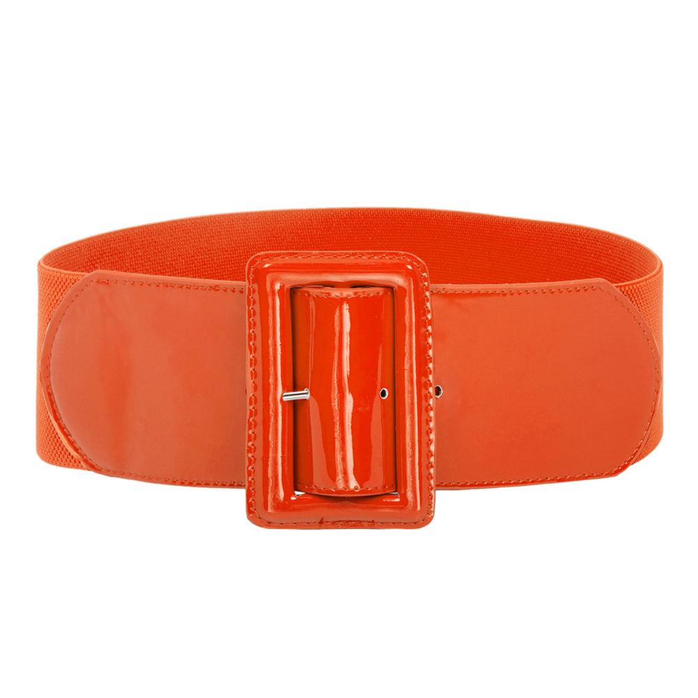 Grace Karin Buckle Stretchy Waistband Belt