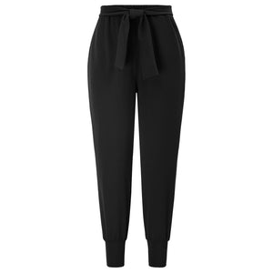 Grace Karin Women Bow-Knot Decorated Elastic Waist Stretchy Skinny Pants