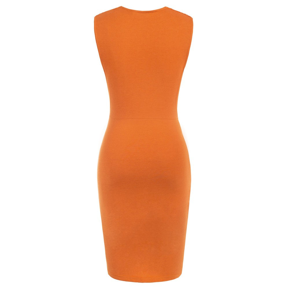 Grace Karin Ruched Sleeveless Bodycon