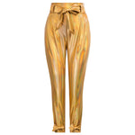 Grace Karin Skinny Imitated Leather Paper Bag Pants