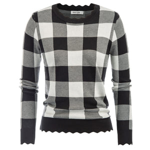 Grace Karin Plaided Knitwear Sweater