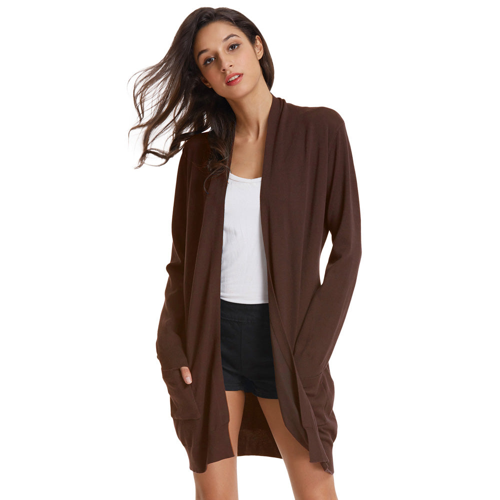 Grace Karin Classic Long Knitting Coat Cardigan