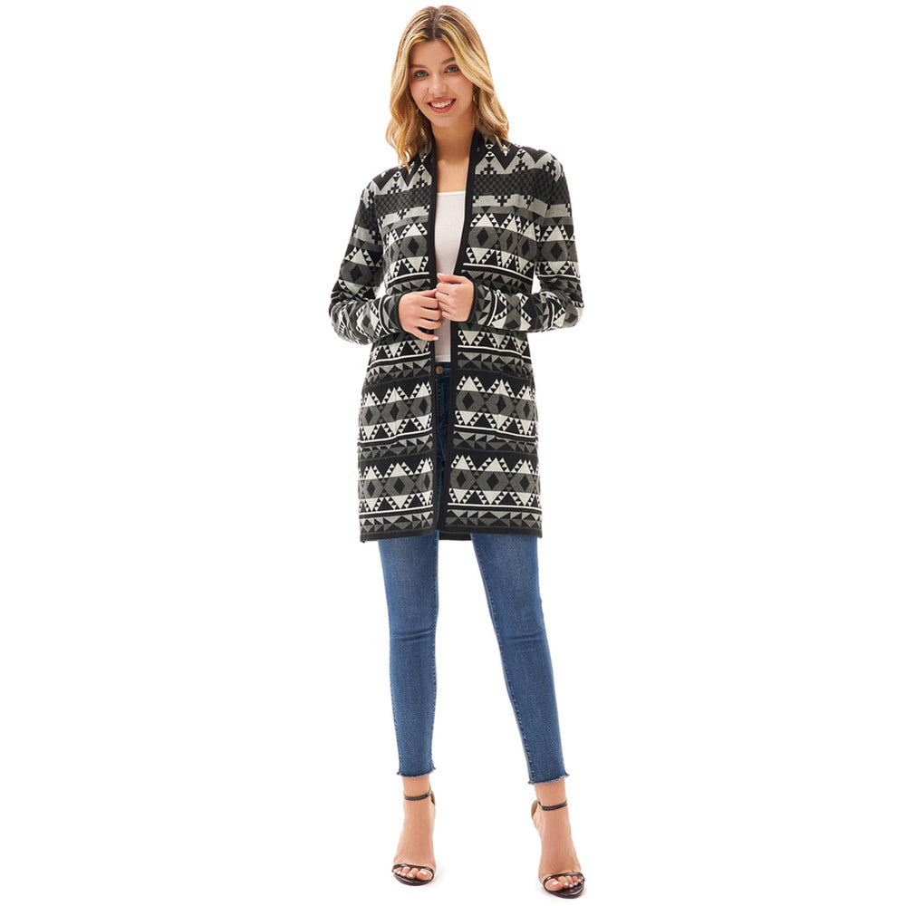 Load image into Gallery viewer, Grace Karin Aztec Pattern Sweater Cardigan