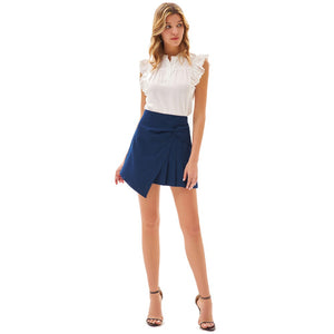 Grace Karin Irregular Hem Pleated Skirt