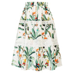 Grace Karin Tropical Print Skirt