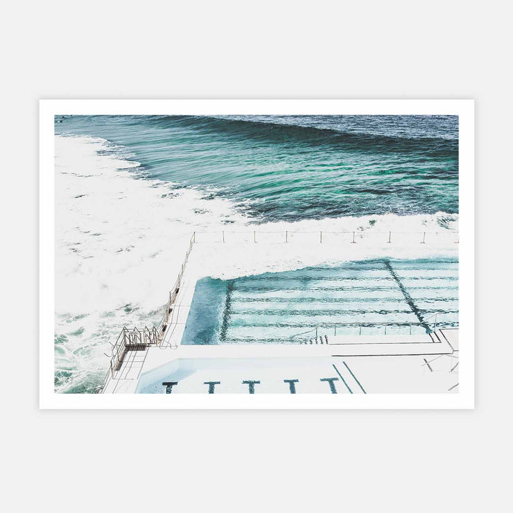 Print Workshop, Bondi Icebergs, Print Only No Frame with White Border