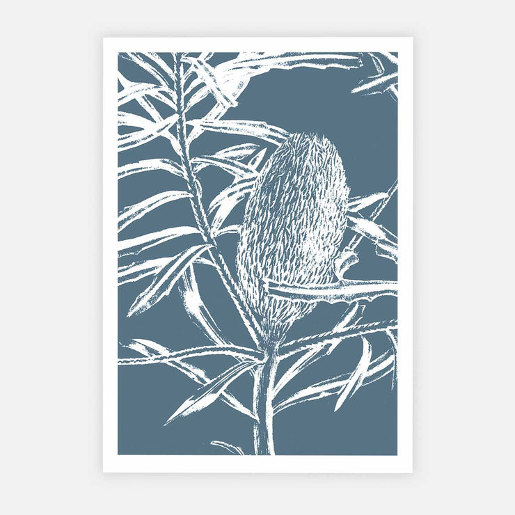 Print Workshop, Botanica Banksia 1, Print Only No Frame with White Border