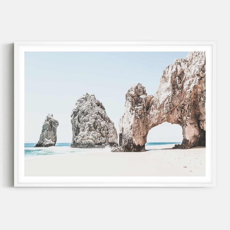 Print Workshop, Framed Print, Cabo San Lucas, Box Frame, White Smooth Coating with White Border