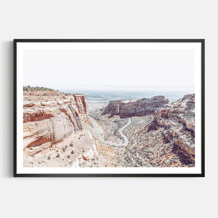 Print Workshop, Framed Print, Fruita Canyon, Box Frame, Black Smooth Coating with White Border