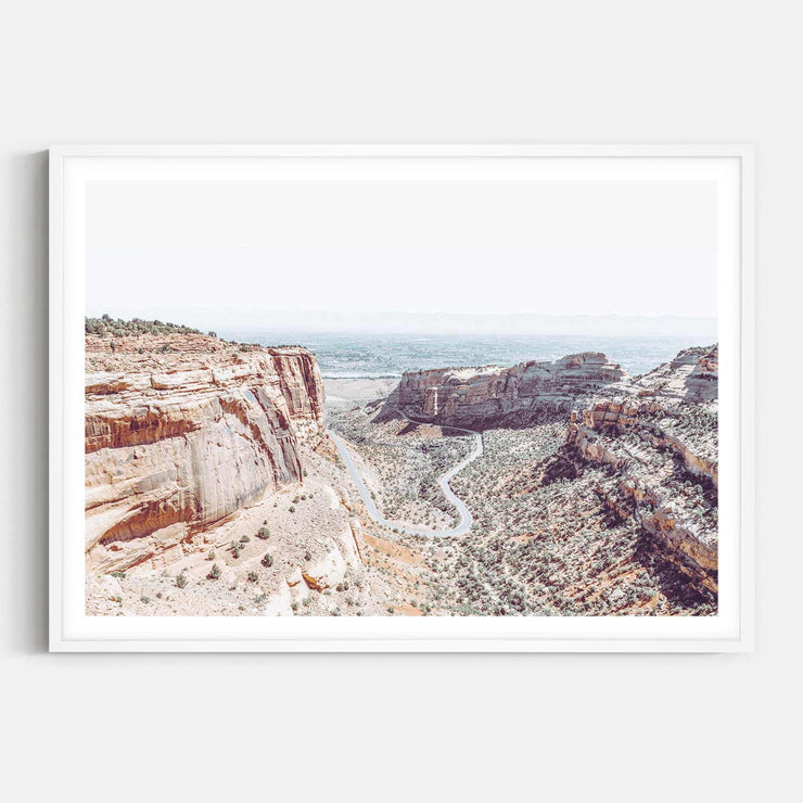 Print Workshop, Framed Print, Fruita Canyon, Box Frame, White Smooth Coating with White Border