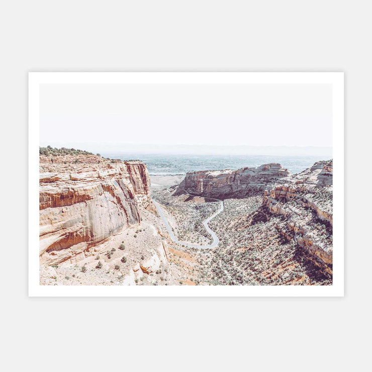 Print Workshop, Fruita Canyon, Print Only No Frame with White Border
