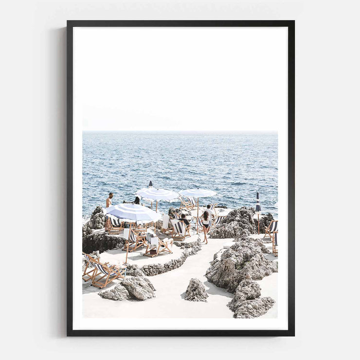 Print Workshop, Framed Print, Amalfi Summer Time, Box Frame, Black Smooth Coating with White Border
