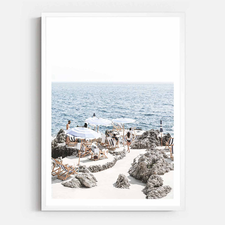 Print Workshop, Framed Print, Amalfi Summer Time, Box Frame, White Smooth Coating with White Border