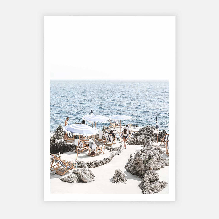 Print Workshop, Amalfi Summer Time, Print Only No Frame with White Border