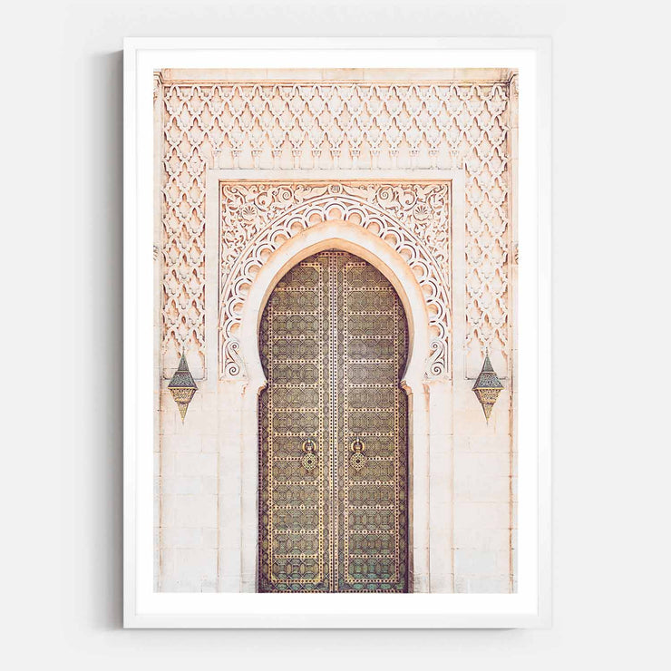 Print Workshop, Framed Print, Moroccan Arch, Box Frame, White Smooth Coating with White Border