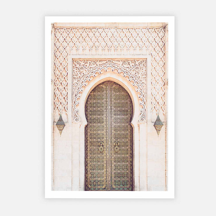 Print Workshop, Moroccan Arch, Print Only No Frame with White Border