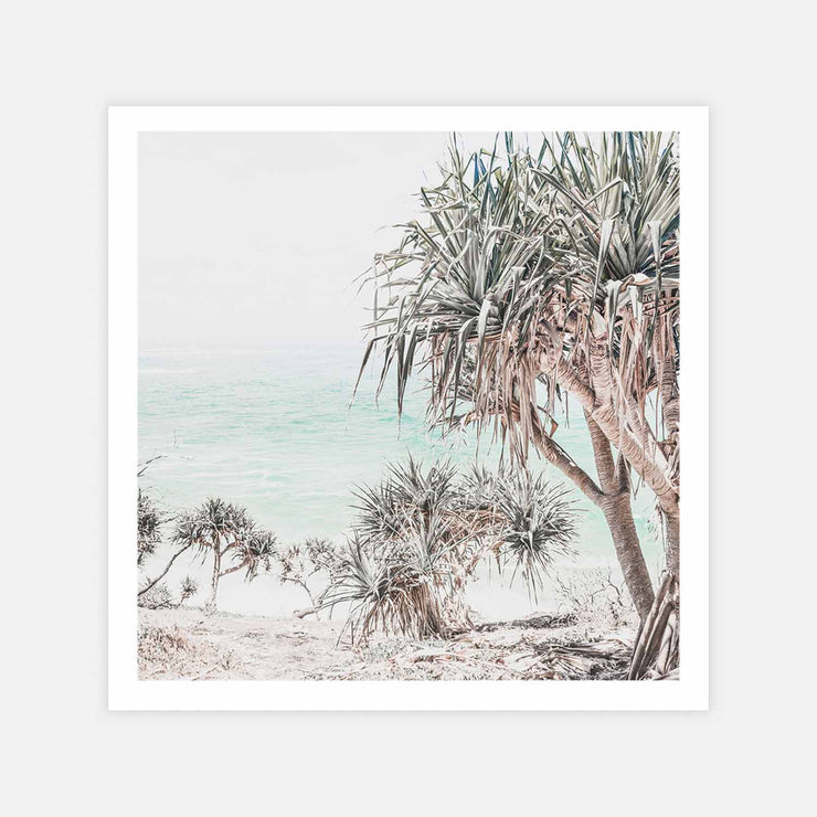 Print Workshop, Pandanus, Print Only (Square Size) No Frame with White Border