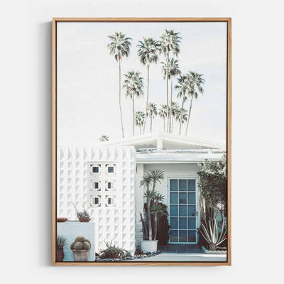 Print Workshop, Canvas Print, Palm Springs Entrance, Natural Australian Oak Floating Frame