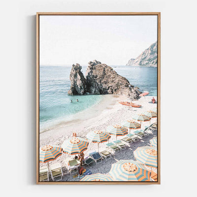 Print Workshop, Canvas Print, Afternoons At Monterosso, Natural Australian Oak Floating Frame