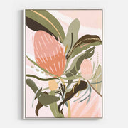 Print Workshop, Canvas Print, Banksia Lust, Floating Frame, White Smooth Coating