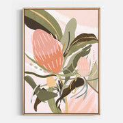 Print Workshop, Canvas Print, Banksia Lust, Natural Australian Oak Floating Frame