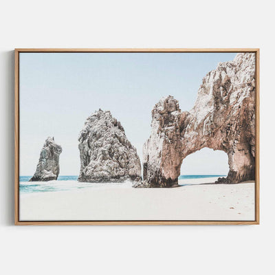 Print Workshop, Canvas Print, Cabo San Lucas, Natural Australian Oak Floating Frame