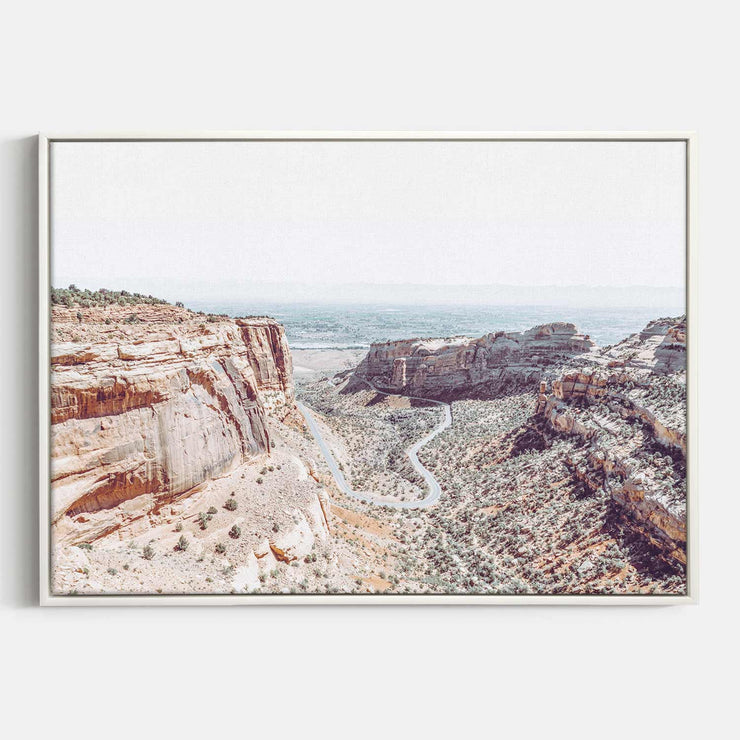 Print Workshop, Canvas Print, Fruita Canyon, Floating Frame, White Smooth