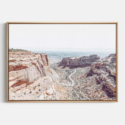 Print Workshop, Canvas Print, Fruita Canyon, Natural Australian Oak Floating Frame